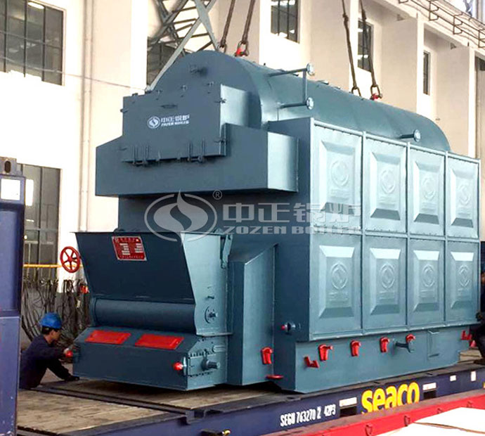 4 tph DZL series chain grate steam boiler for the feed industry in Indonesia